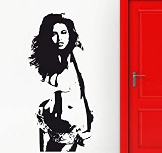 lixingwei Sexy Girl Silhouette Wall Decals Beautiful Woman Wall Stickers for Girls Bedroom Removable Art Mural Home Decoration 42X88CM