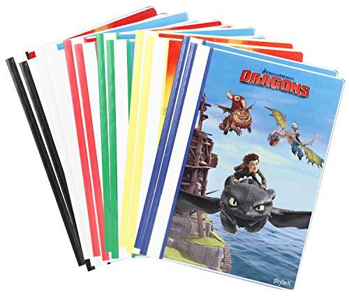 12x Schnellhefter DIN A 4, Bunte Hefter mit Motiven aus DreamWorks Drachen zähmen leicht gemacht (Schnellhefter - 12 Stück)