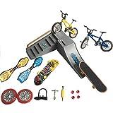 SN-RIGGOR 16 in1 DIY Kit Fingerboards Mini Skateboard/Finger Bike/Ramp/with Wheels/Swing Boards/Assebling Accessory/Mini Wrench