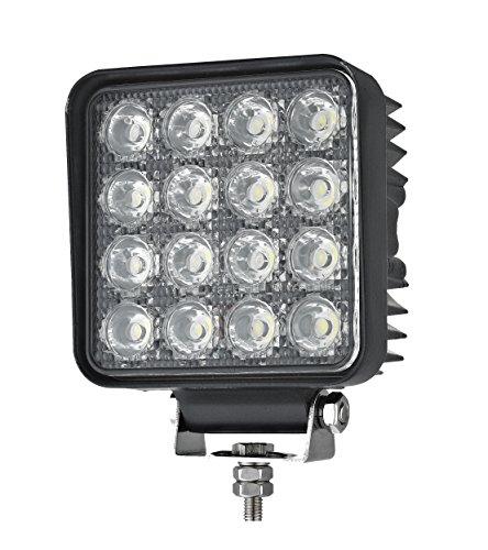 Foco de Trabajo LED con Interruptor Encendido · 48W - 2200 Lúmenes - ON/OFF · 12-24V · IP67 · Faro LED adicional Camión, Coche 4x4, Tractor