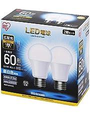 アイリスオーヤマ LED電球 E26 広配光タイプ 昼白色/電球色/昼光色