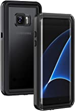 Lanhiem Galaxy S7 Edge Case, IP68 Waterproof Dustproof Shockproof Case with Built-in Screen Protector, Full Body Sealed Underwater Protective Cover for Samsung Galaxy S7 Edge (Black)