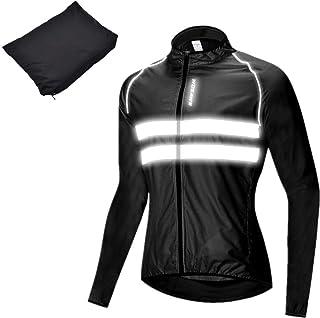 ウインドブレーカー サイクル ジャケット超軽量 防風 撥水 夜間反射 バックポケット 自転車ウェア サイクリング 男女兼用 全3色 大きいサイズ