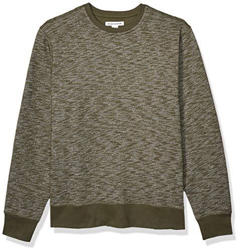 Amazon Essentials Crewneck Fleece Sweatshirt Athletic-Sweatshirts, Olive Space-Dye, US L (EU L)