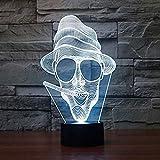 HHYXIN Nachtlicht 3D LED Smoker 7 Farbe Lampen Schimpanse Lichter Neuheit Lichter als Wohnkultur Kinder Urlaub