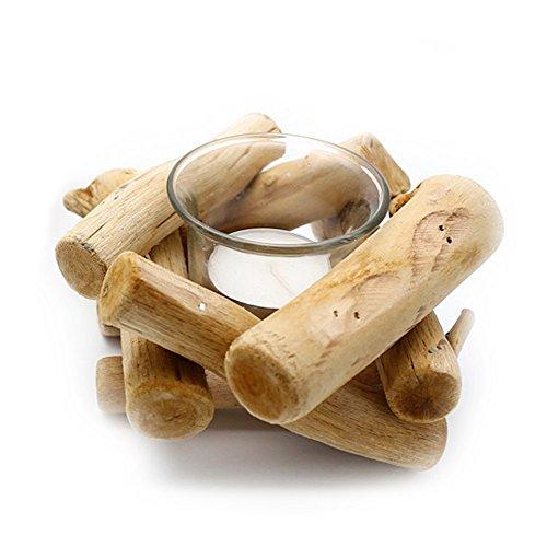 NaiCasy - Portacandela in legno, realizzato a mano, per regali e decorazioni, consegna principale, per matrimonio