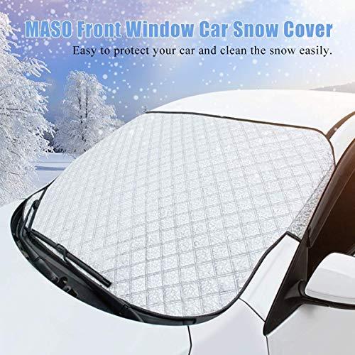 Riloer Lámina de protección contra el hielo, resistente y ultra gruesa para la ventana del coche, protección contra el hielo, se adapta a la mayoría de los vehículos
