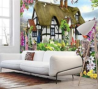 Wallpaper Wallpapers Gorgeous Pastoral English Country Cottage Rose Garden Children's Room Tv Backdrop Mural Wallpaper,150Cm×105Cm