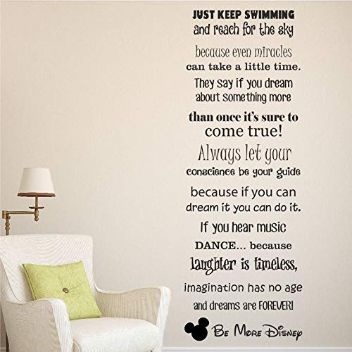 Stickers Muraux Be More Saying Quote Mots Mickey Decor Home Decor Nursery Chambre D'Enfant