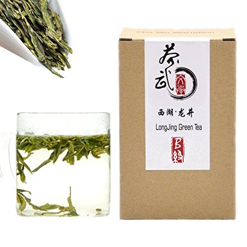 Cha Wu-[B] LongJing Green Tea,8.8oz/250g,Chinese Dragon Well Green Tea Loose Leaf