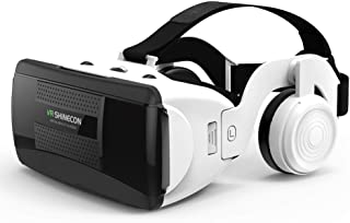 VR Headset for iPhone & Android Phone - Universal Virtual Reality Goggles - Play Your Best Mobile Games 360 Movies with So...