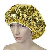 Raspbery Gorro De Ducha Aislamiento Térmico Sombrero De Papel De Aluminio Gorro De Baño Elástico para Mujer Salón De Belleza Baño WellDesigned Robust