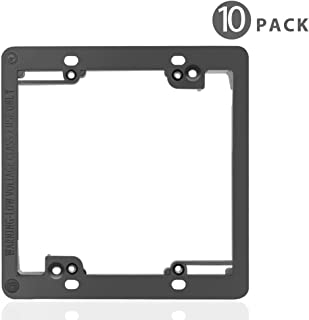 TNP Low Voltage Mounting Bracket, Horizontal/Vertical, Black (2 Gang (10 Pack))