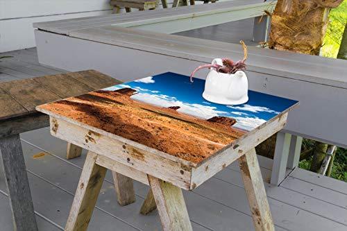 Wallario Aufkleber Selbstklebende Garten-Tisch-Decke - Monument Valley in 100 x 100 cm