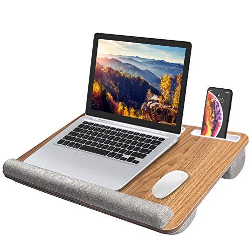 HUANUO Supporto per Laptop con Cuscino e Pad da Polso Integrati per Notebook Fino a 15.6 , con Supporto per Tablet, Penna e Telefono