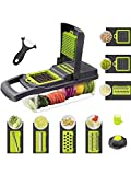 Jahubo Cortador de Verduras Mandoline 16 en 1, Picador de rallador de Cocina multifunción con 7 Cuchillas Ajustables para rebanar, rallador accesorios de cocina cesta para vegetales rebanador