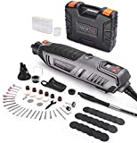 TACKLIFE Rotary Tool 200W with LCD Display Screen, Variable Speed 10000-40000rpm, 63 Accessories