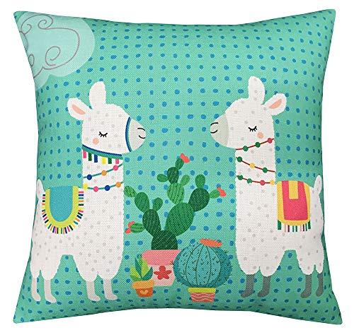 Geepro 45,7cm Rotonda Cuscino Decorativo di Cotone Lino Cute Animal Pillow Case Lyndee