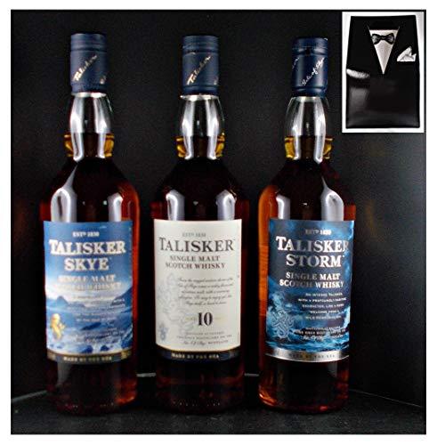 3 Flaschen Talisker : Storm Skye 10 Jahre Single Malt Whisky im Smoking
