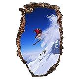 Bilderwelten Tatuaje de Pared 3D - Ski Jump at The Slope - Alto 3:2, Adhesivo para Pared Vinilo Adhesivo Etiqueta de la Pared Pegatina de Pared Tatuajes 3D, Tamaño: 180cm x 120cm