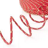 100m POLYPROPYLENSEIL 10mm ROT Polypropylen Seil Tauwerk PP Flechtleine Textilseil