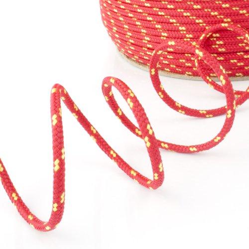 10m POLYPROPYLENSEIL 2mm ROT Polypropylen Seil Tauwerk PP Flechtleine Textilseil Reepschnur Leine Schnur Festmacher Rope Kunststoffseil Polyseil geflochten
