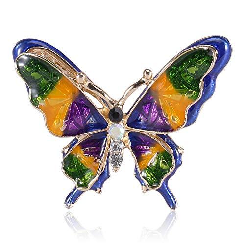 LOSAYM Broches Y Alfileres para Mujer Broche De Mariposa Complementos De Vestir para Mujer