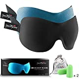 PrettyCare 3D Sleep Mask with 2 Pack Eye Mask for Sleeping - Contoured Eyemask for Airplane with...