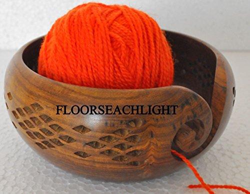Wooden Yarn Bowl portátil Yarn...