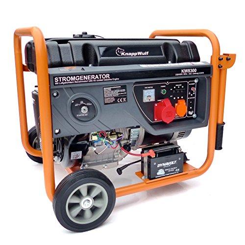 KnappWulf KW8300 Benzin Generator Notstomaggregat 3-phasen 230V+400V