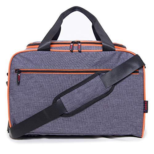 Neue Reisetasche von Vashka | an Bord Gepäck | Ryanair-konformes Gepäck 40x20x25cm | Grau