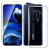 HYMY Hülle für Oppo Reno 2 Smartphone + 1 x Schutzfolie Panzerglas - Transparent Schutzhülle TPU Handytasche Tasche Durchsichtig Klar Silikon Hülle für Oppo Reno 2 (6.5