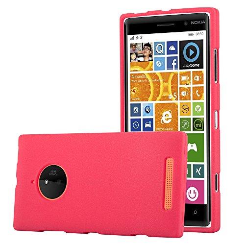 Cadorabo Hülle für Nokia Lumia 830 in Frost ROT - Handyhülle aus flexiblem TPU Silikon - Silikonhülle Schutzhülle Ultra Slim Soft Back Cover Hülle Bumper