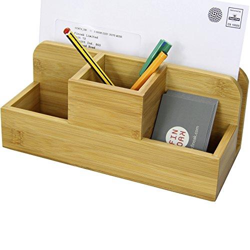 Bambú Organizzatore da Scrivania, Portapenne Portamatite
