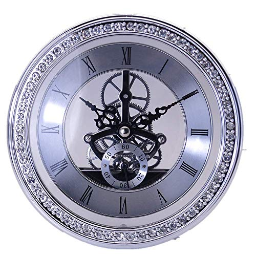 DEEWISH Clock Inserts, Transparent Skeleton Clock Inserts, Recessed Quartz Clockwork Table Clock, Clock Repair or DIY