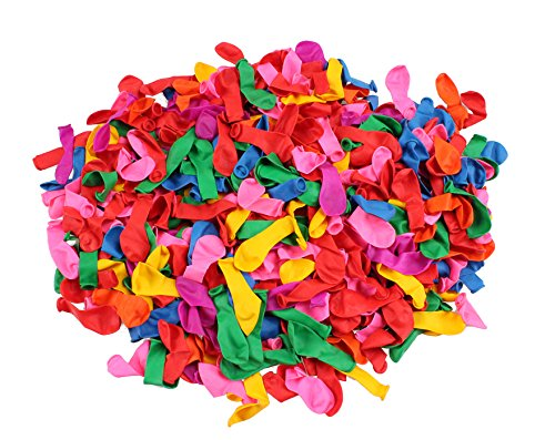 water balloons - water balloon filler - 500 Pack [7] Vibrant Colors - water balloons bulk - Party Supplies