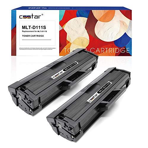 CSSTAR Cartuccia toner di ricambio compatibile per Samsung 111S MLT-D111S per Xpress SL-M2070W SL-M2022W SL-M2020W SL-M2026W SL-M2070FW SL-M2078W SL-M2020 SL-M2022 SL-M2026 SL-M2070 Stampante, 2 Nero