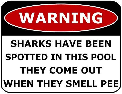 Warnschild Warning Sharks