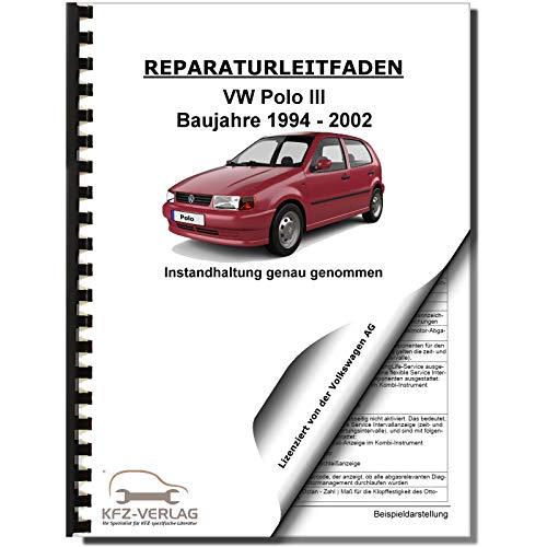 VW Polo 3 Typ 6N 1994-2002 Instandhaltung Inspektion Wartung Reparaturanleitung