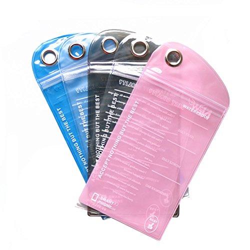 BESTOMZ Custodia Impermeabile Smartphone Impermeabile Pouch per Nuoto Immersione in Barca Escursionismo 5Pcs (Colore Casuale)