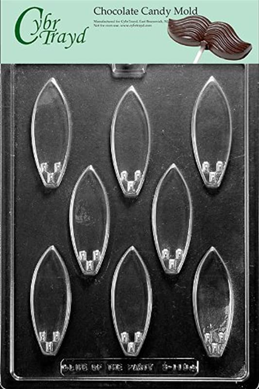 Cybrtrayd S113 Sports Chocolate Candy Mold Surf Board
