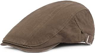 Men Berets Breathable Cotton Weaved Newsboy Driver Ivy Cap Flat Cap Adjustable