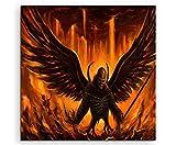 Satan Wings Leinwandbild in 60x60cm Made in Germany!