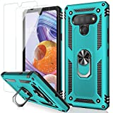 MERRO Compatible with LG Stylo 6 Case with Screen Protector,Military Grade Heavy Duty Shockproof Cover Pass 16ft Drop Test with Magnetic Kickstand Protective Phone Case for LG Stylo 6 Turquoise