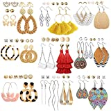 47 Pairs Fashion Earrings for Wo...