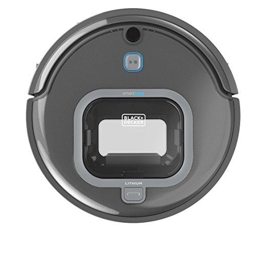 BLACK+DECKER RVA425B-QW RVA425B Aspirateur robot personnalisable sans fil - Application Smart tech Bluetooth - Controlable à distance - Filtre anti-allergies HEPA, Gris