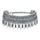 bling jewelry native american style coachella festival pendeva giù ampia collana girocollo per teen per donne placcato in argento