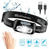 Cocoda Linterna Frontal, LED USB Recargable Linterna...