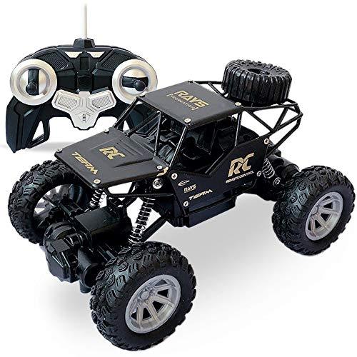 HSPHFX Campo al aire libre All Terreno Vehículo todoterreno, controlado por radio 1:18 Cuerpo de aleación Mini motor de doble conducción fuerte y trasero Amortiguador Trasgón Monster camioneta, más de