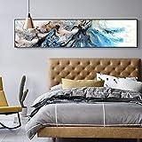 Impresiones de Giclee Arte Pintura abstracta Decoración costera para el hogar Impresiones en lienzo modernas Regalo Decoración de pared Tamaños grandes Arte de la casa de playa 40x180cm Sin marco